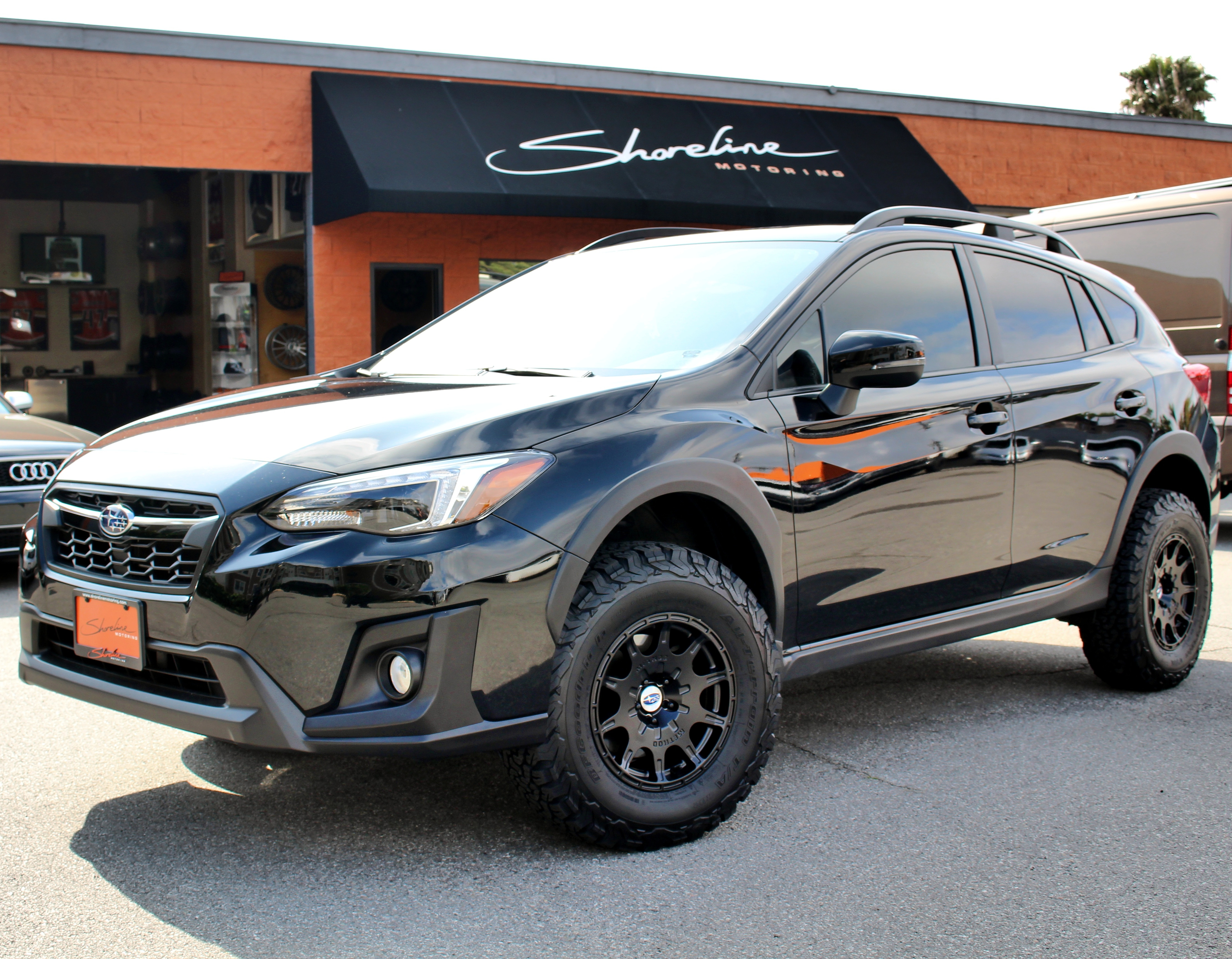 """1.5"""" LP Aventure lift kit, PedalBox, Method 502 VT Spec Rally Series wheels with KO2 BFG'S and black-out trim package for this '18 Crosstrek"""